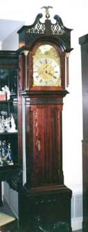 Chippendale Style Mahogany Longcase Clock