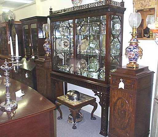 A Chinese Chippendale Style Display Cabinet