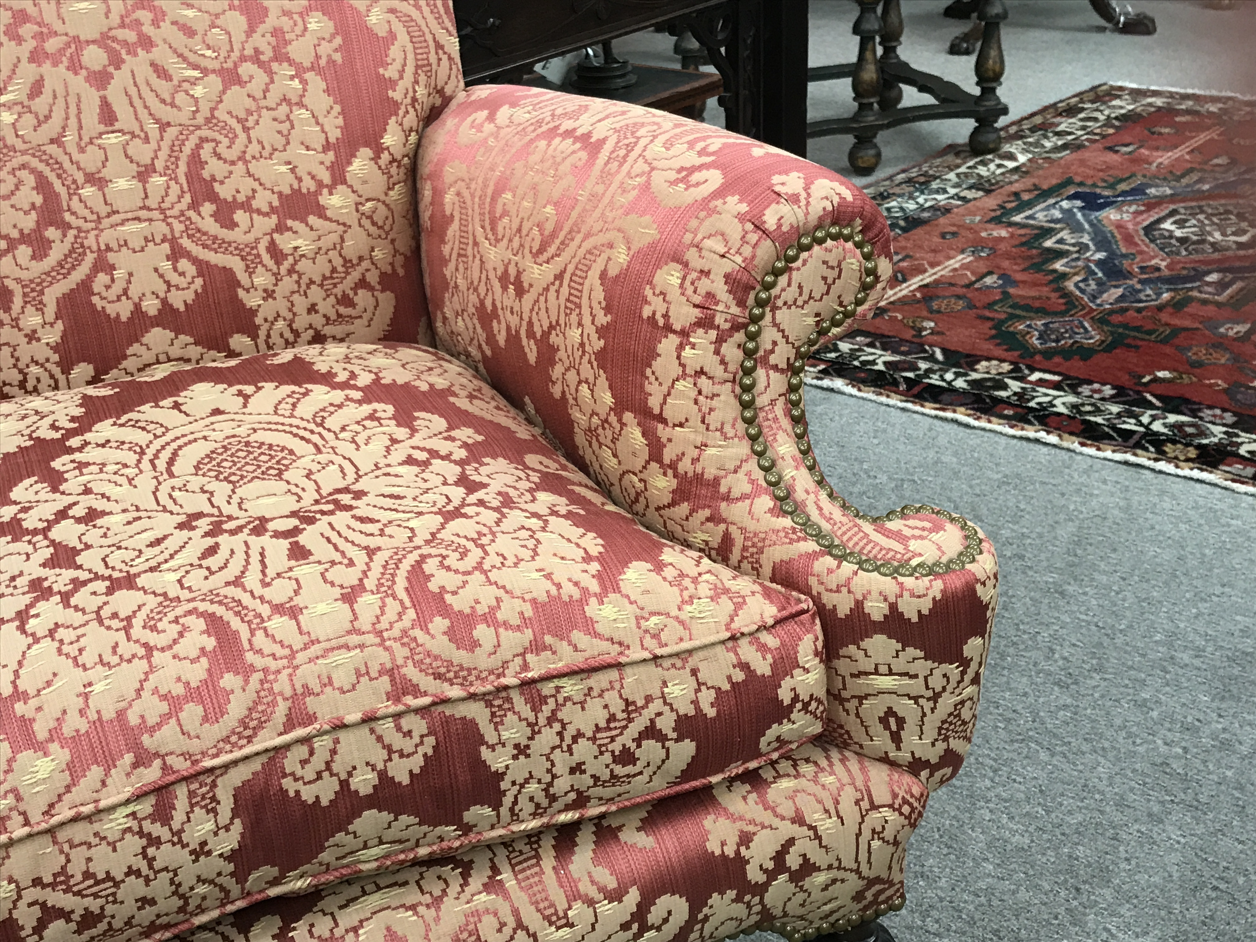 A Lovely and Unusual William and Mary Style Two Seat Settee
