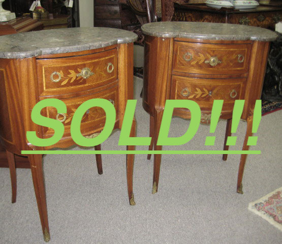 Pair Of Bronze Mounted End Tables  (SOLD)