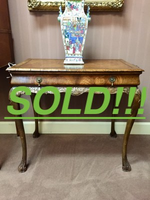 Queen Anne Style Walnut Tea Table  (SOLD)