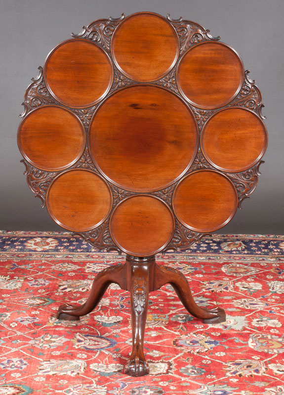 Chippendale Style Mahogany Supper Table  (SOLD)