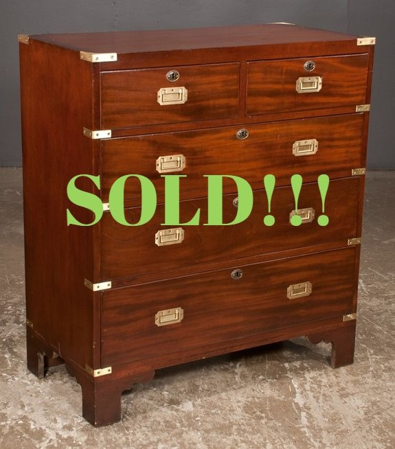 Mahogany Campaign Chest  (SOLD)