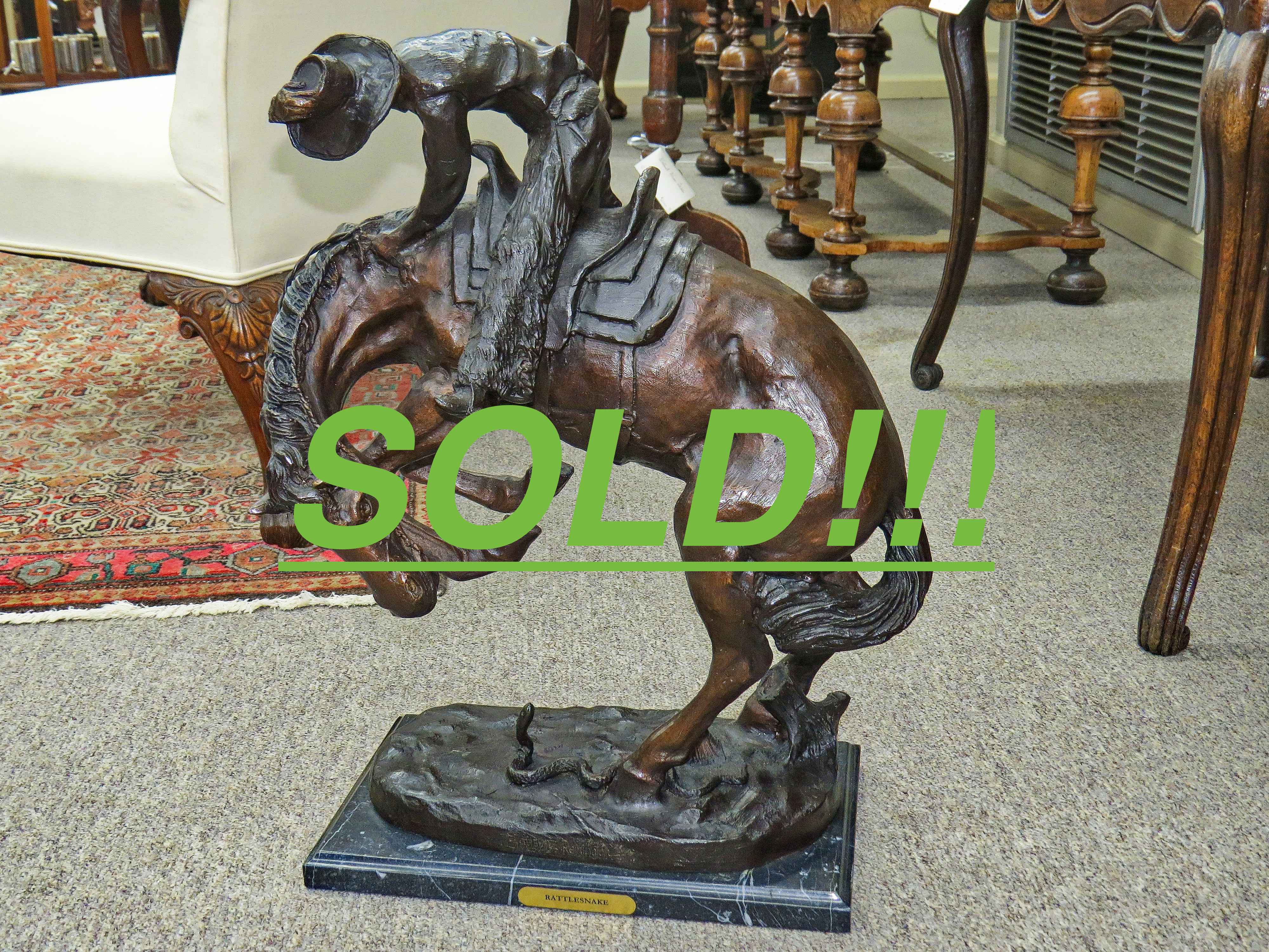 """""""Rattlesnake"""" by Frederic Remington  (SOLD)"""