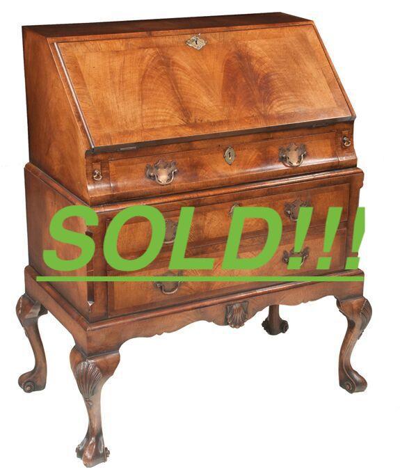 Queen Anne Walnut Slant Top Desk  (SOLD)