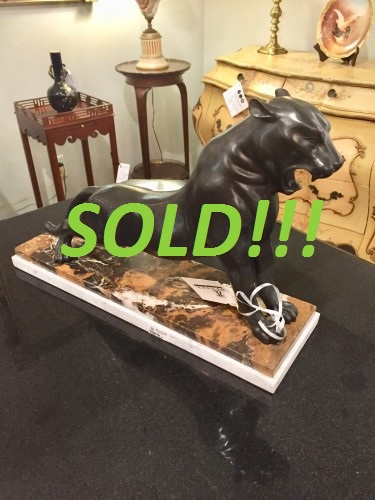 Bronze Sculpture of a Panther  (SOLD)