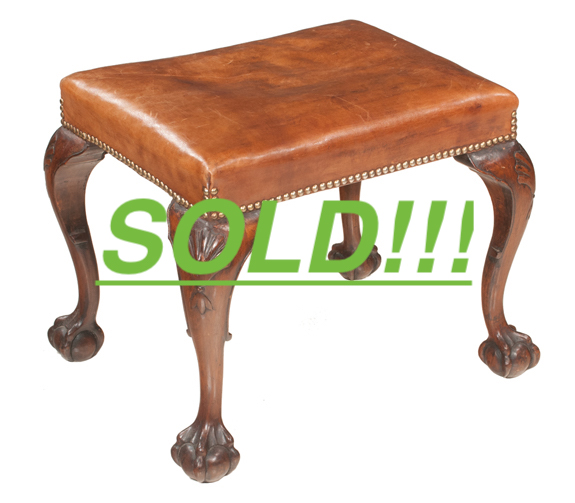 Chippendale Style Stool  (SOLD)