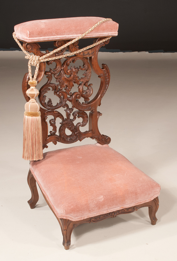 Louis XV Style Walnut Prayer Bench  (SOLD)