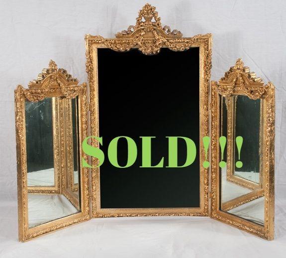 Folding Dressing Mirror  (SOLD)