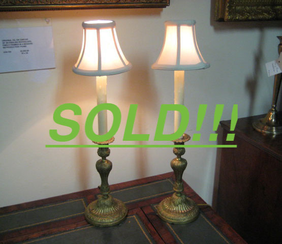Louis Philippe Candlestick Lamps  (SOLD)