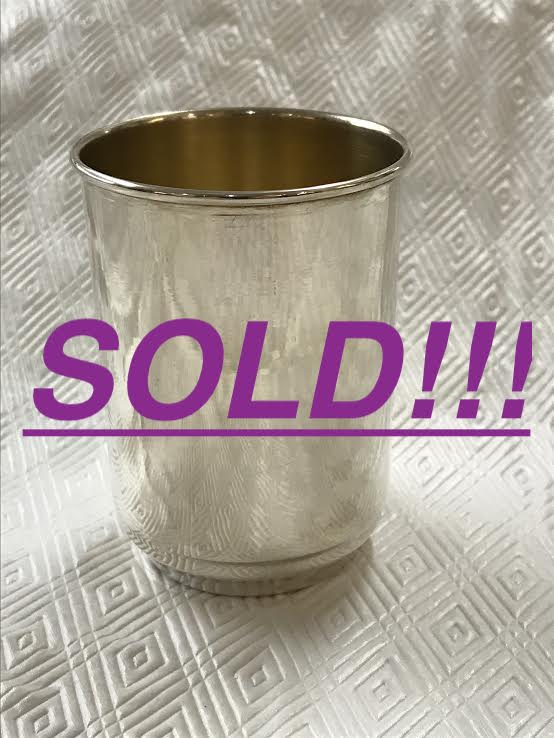 A Collection of Nine Gorham Sterling Silver Mint Julep Cups  (SOLD)