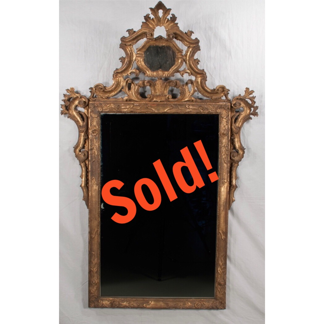 Early 19th Century Italian Gold Gilt Mirror
