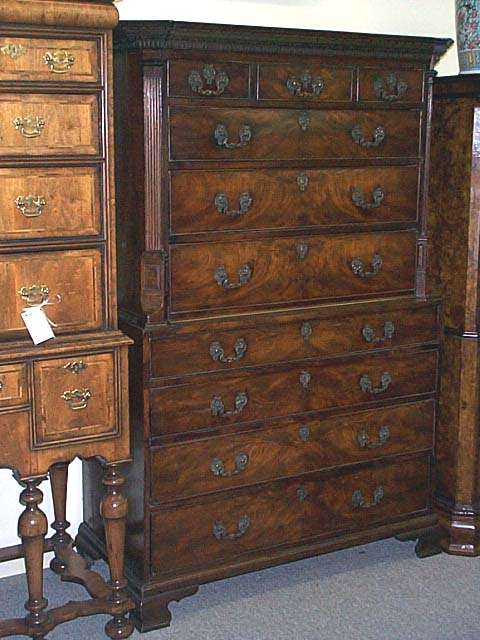 A George III Mahogany Chest On Chest.