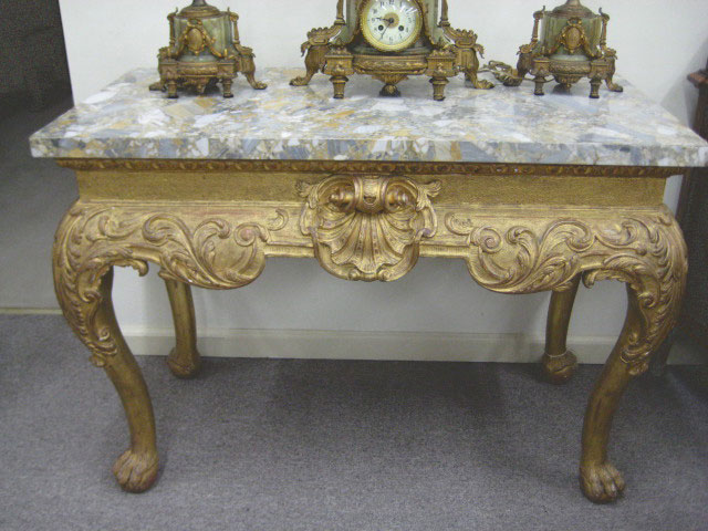 George II Marble-top Giltwood Side Table