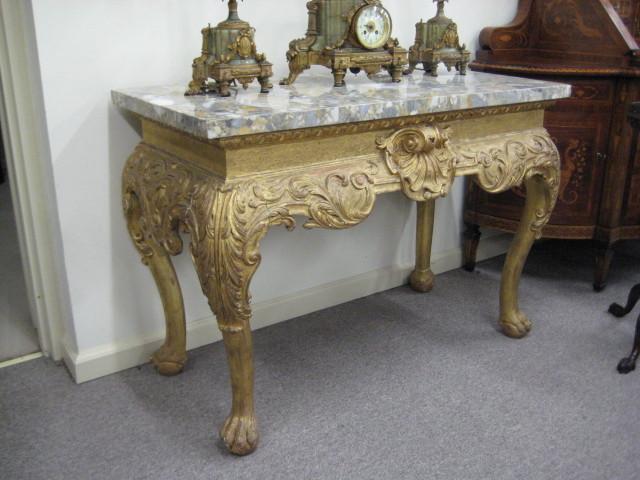 George II Marble-top Giltwood Side Table